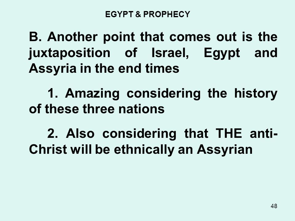EGYPT & PROPHECY B.