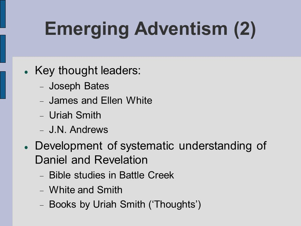 Questions (2): Does global Adventism not also require attention to non-western and non- Christian aspects.