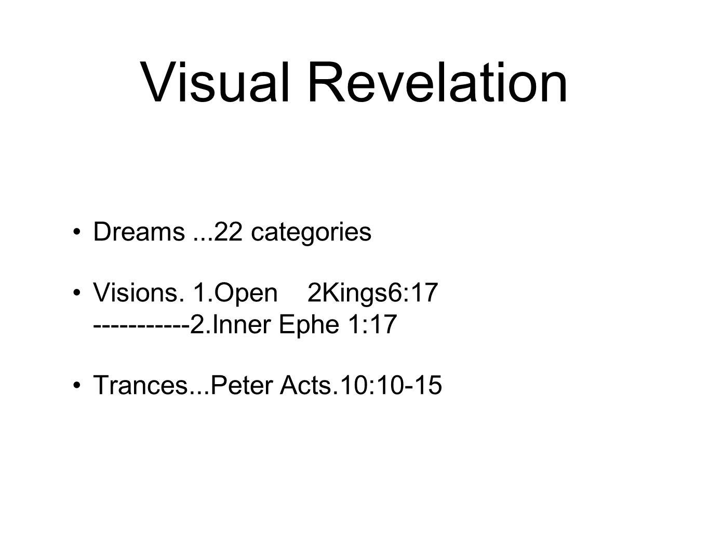 Visual Revelation Dreams...22 categories Visions.