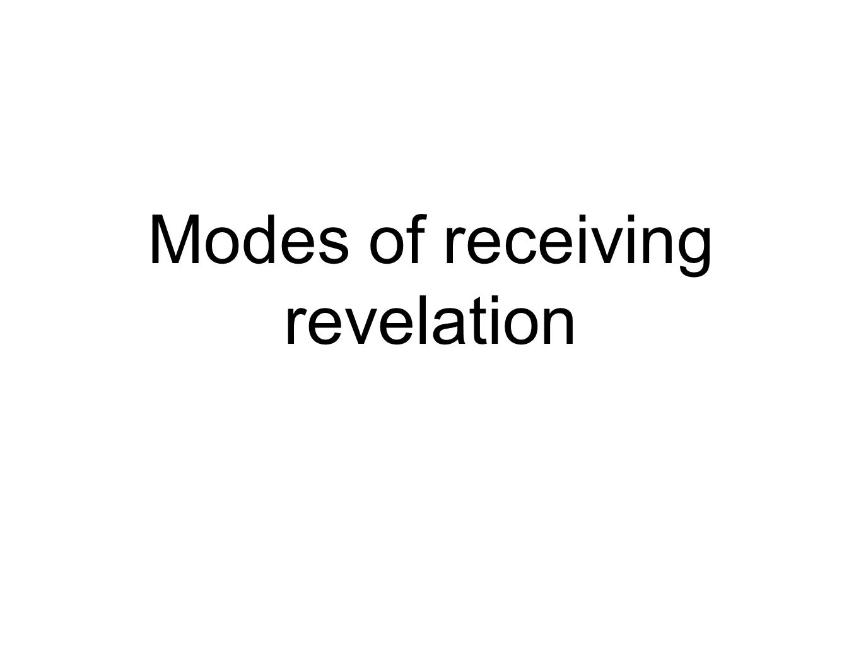 Modes of receiving revelation