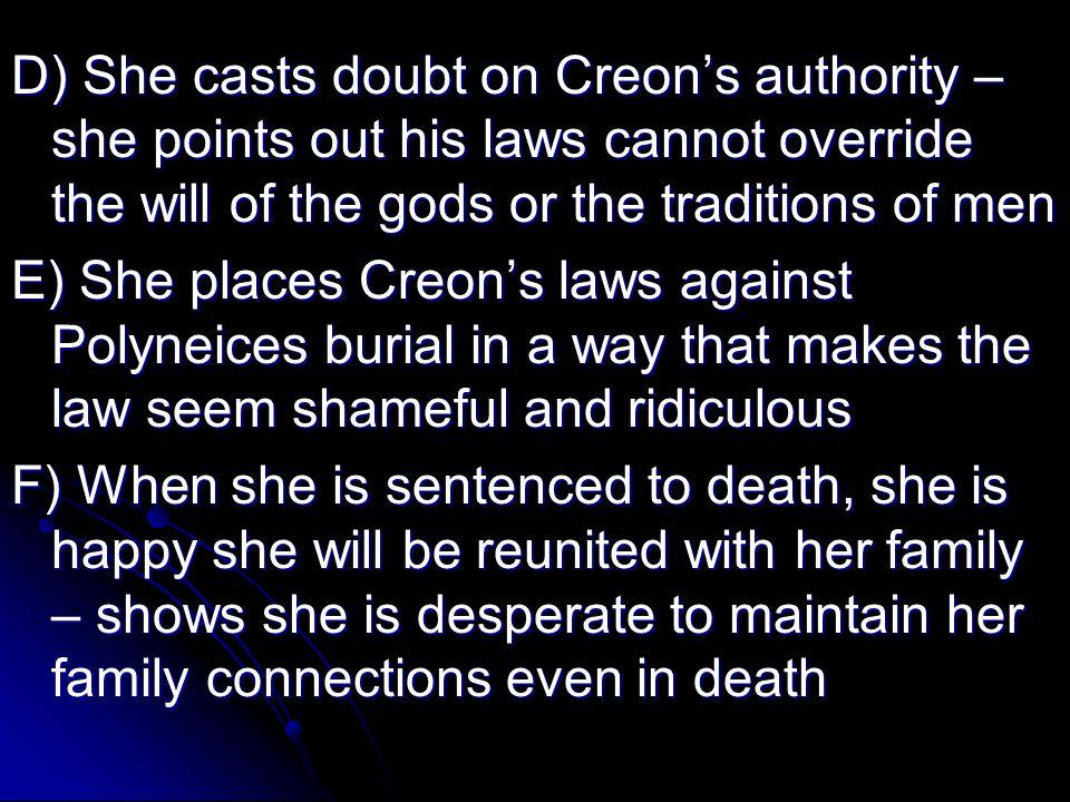 Major Conflict A) Antigone – Man vs.Man (Creon vs.
