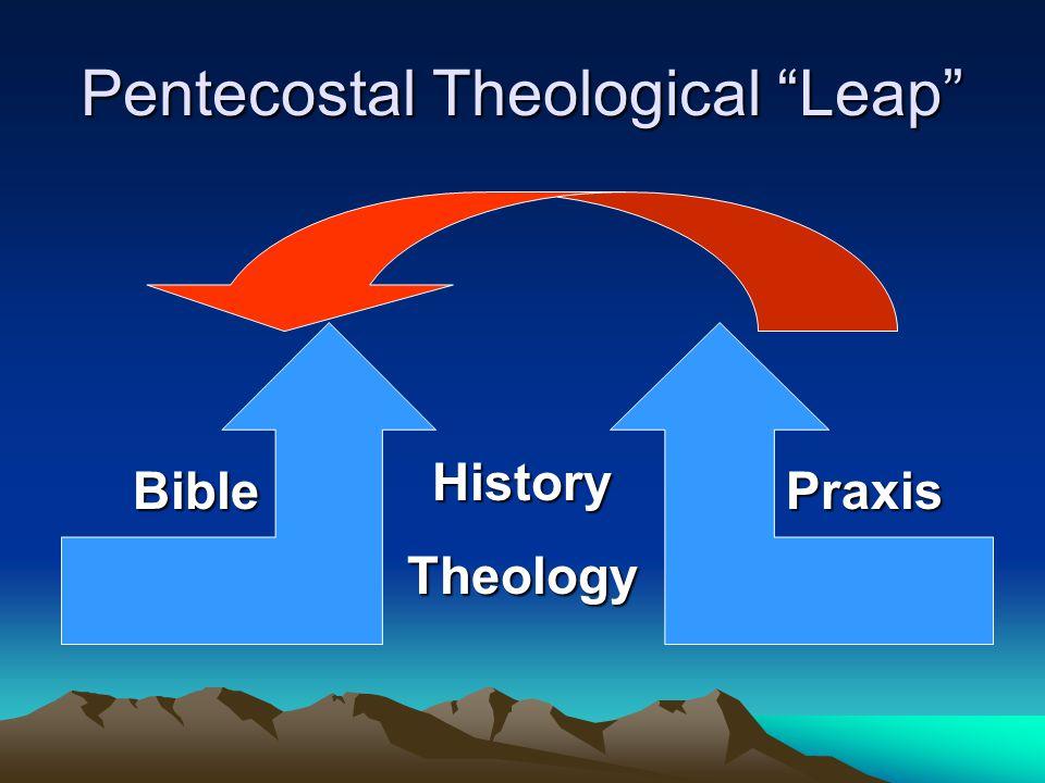 "Pentecostal Theological ""Leap"" HistoryTheology BiblePraxis"