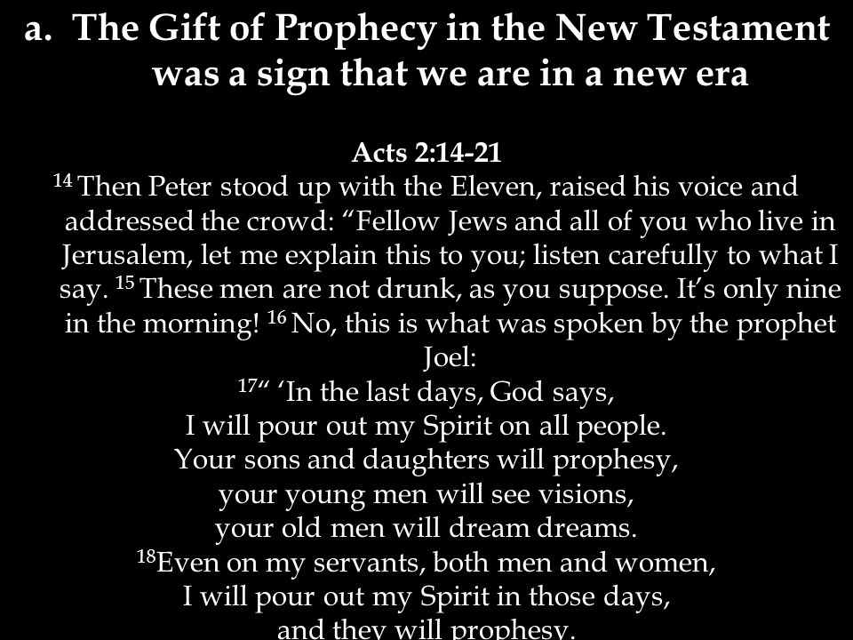 """Acts 2:14-21 14 Then Peter stood up with the Eleven, raised his voice and addressed the crowd: """"Fellow Jews and all of you who live in Jerusalem, let"""