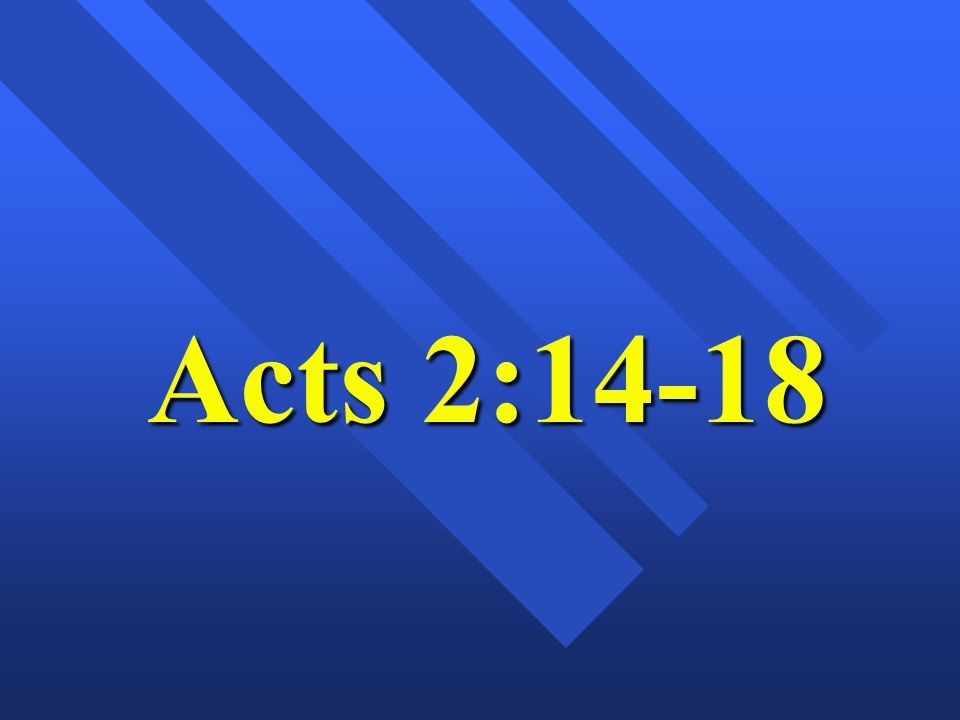 2v17-18; How Did God distribute the out pouring upon ALL FLESH in the 1 st century First to APOSTLES Acts 2:1-4; THEN THROUGH the APOSTLES PREACHING (we receive indwelling SPIRIT)