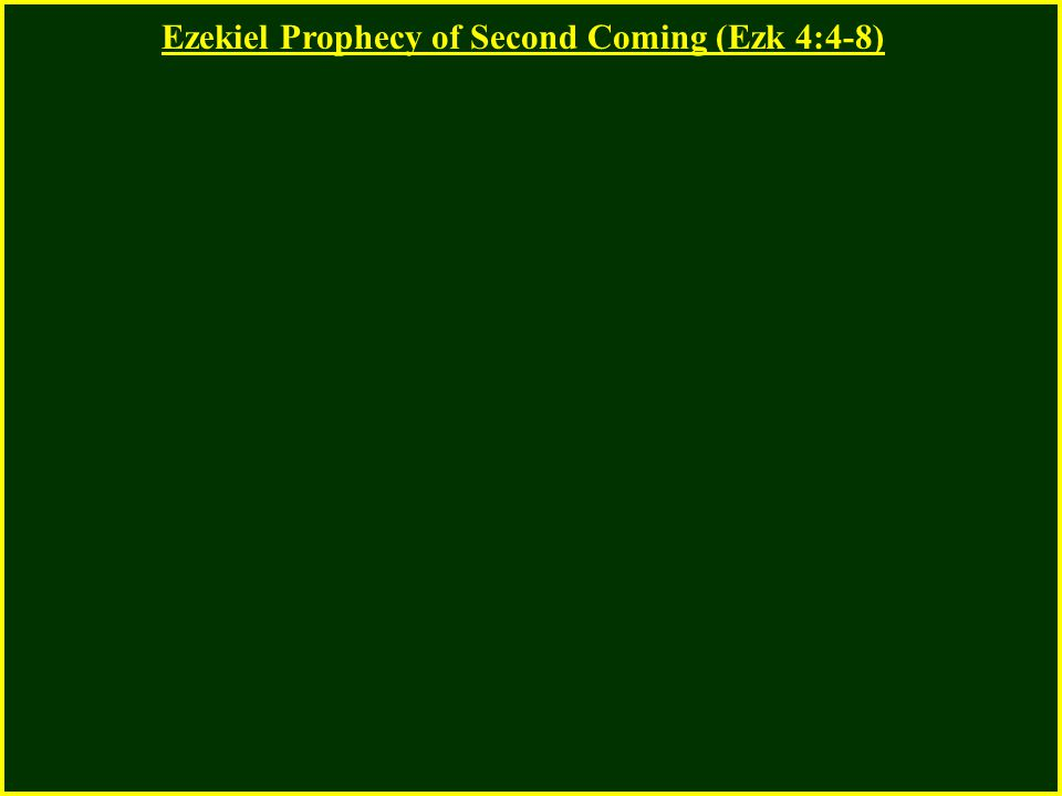 Ezekiel Prophecy of Second Coming (Ezk 4:4-8)