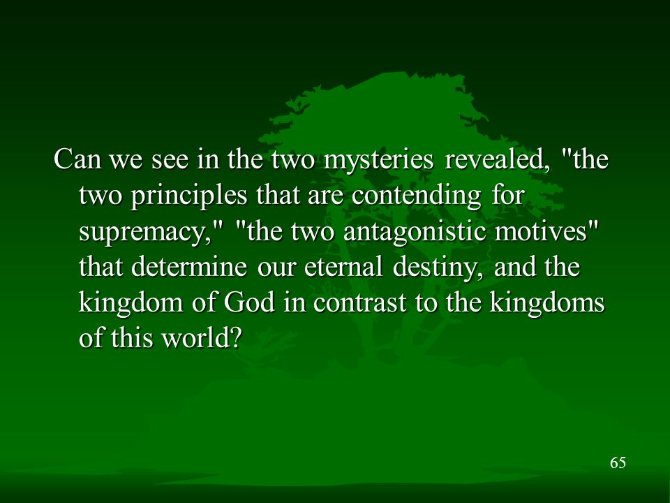 65 Can we see in the two mysteries revealed,