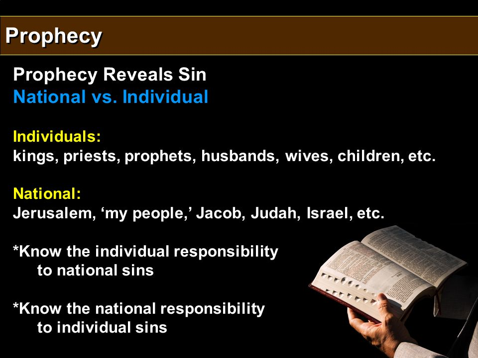 Prophecy Reveals Sin National vs.