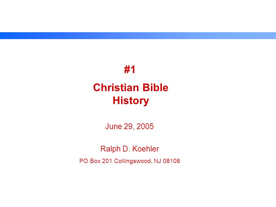 Topics Motivation - Purpose Divine Inspiration of the Word Prophecy Eyewitness Testimony Christian Martyrs Preservation of the Word Biblical Canon Apocrypha and Pseudepigrapha Biblical Translation Biblical Quotations Jesus Cited in History Archaeology Synopsis