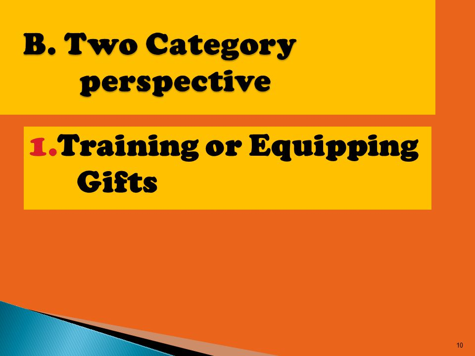 1.Training or Equipping Gifts 10