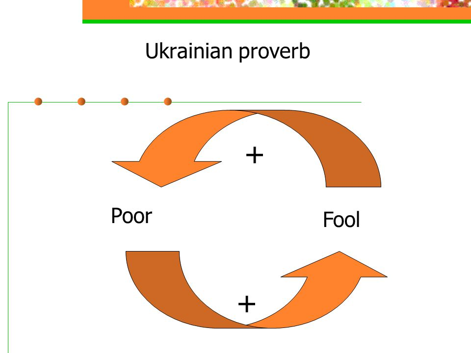 Ukrainian proverb Poor Fool + +
