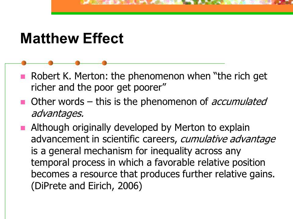 Matthew Effect Robert K.