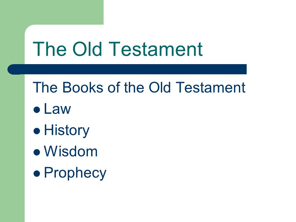 The Old Testament The Law Genesis Exodus Leviticus Numbers Deuteronomy