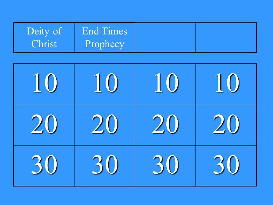 10101010 20202020 30303030 Deity of Christ