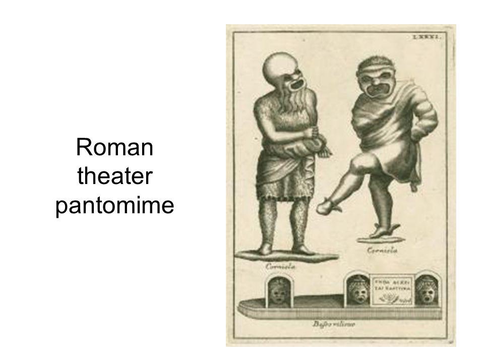 Roman theater pantomime