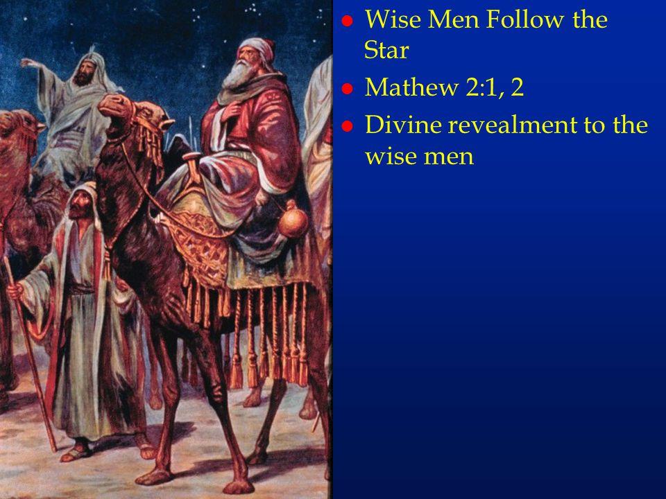 cc10 l Wise Men Follow the Star l Mathew 2:1, 2 l Divine revealment to the wise men