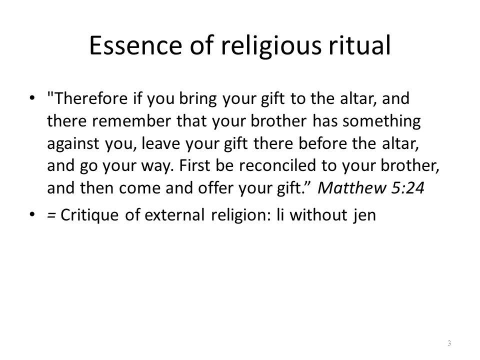Essence of religious ritual