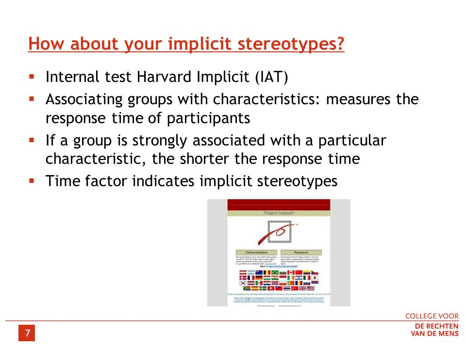 7 How about your implicit stereotypes.