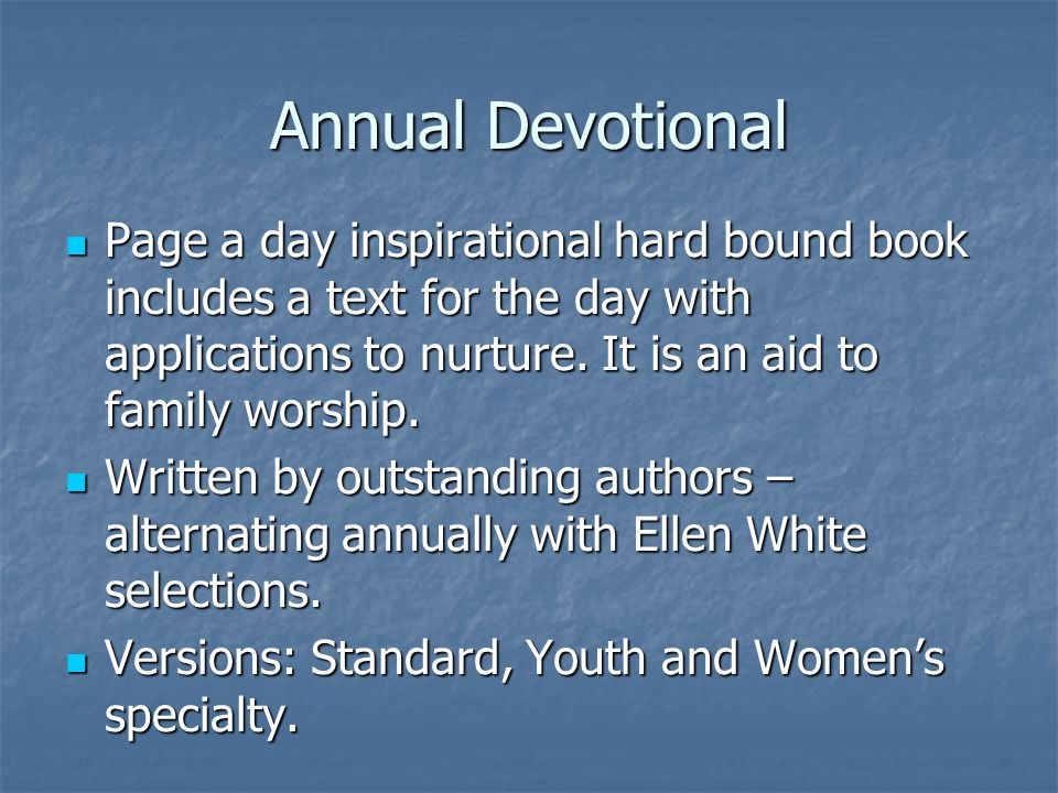 Annual Devotional Page a day inspirational hard bound book includes a text for the day with applications to nurture.