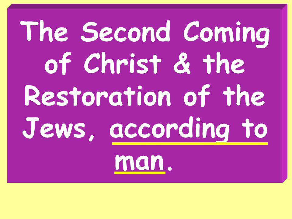 Second Coming Of Christ All authority comes from Christ, revealed in His word.