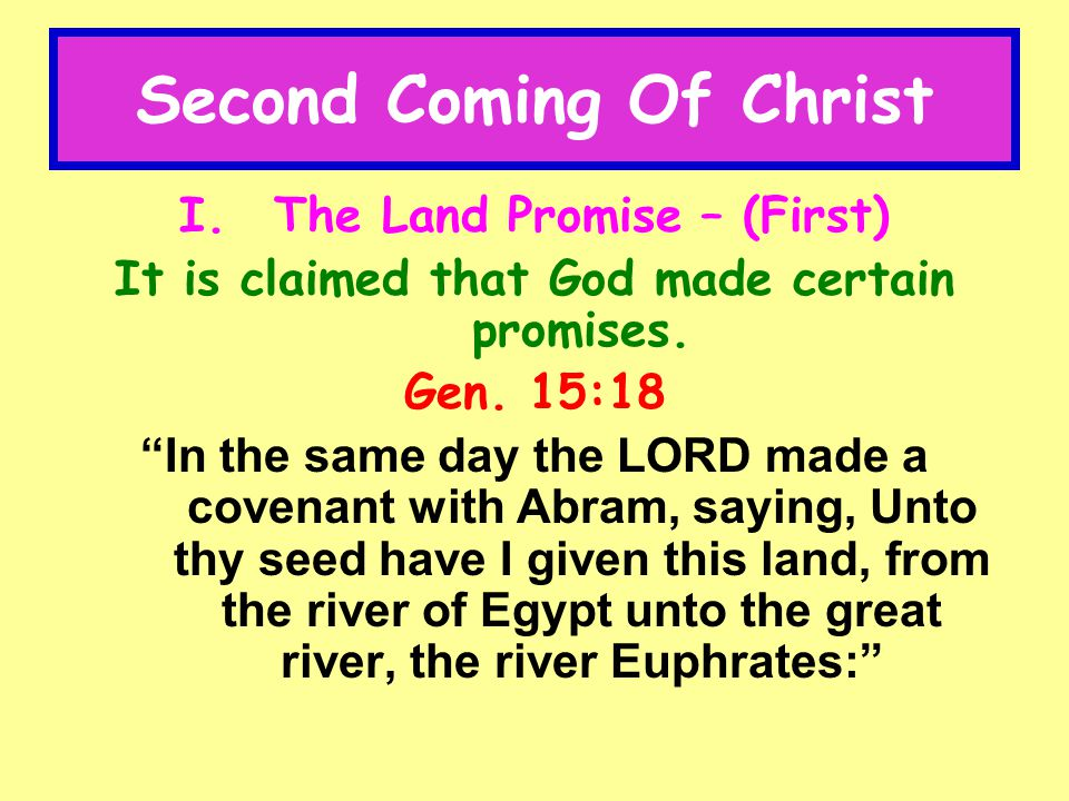 Second Coming Of Christ VI.The Covenant of Circumcision – 3 rd.