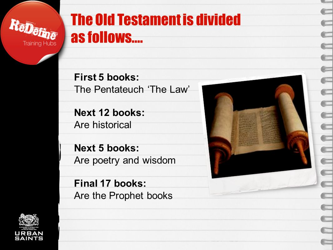 Final 17 books: Are the Prophet books The Old Testament is divided as follows....