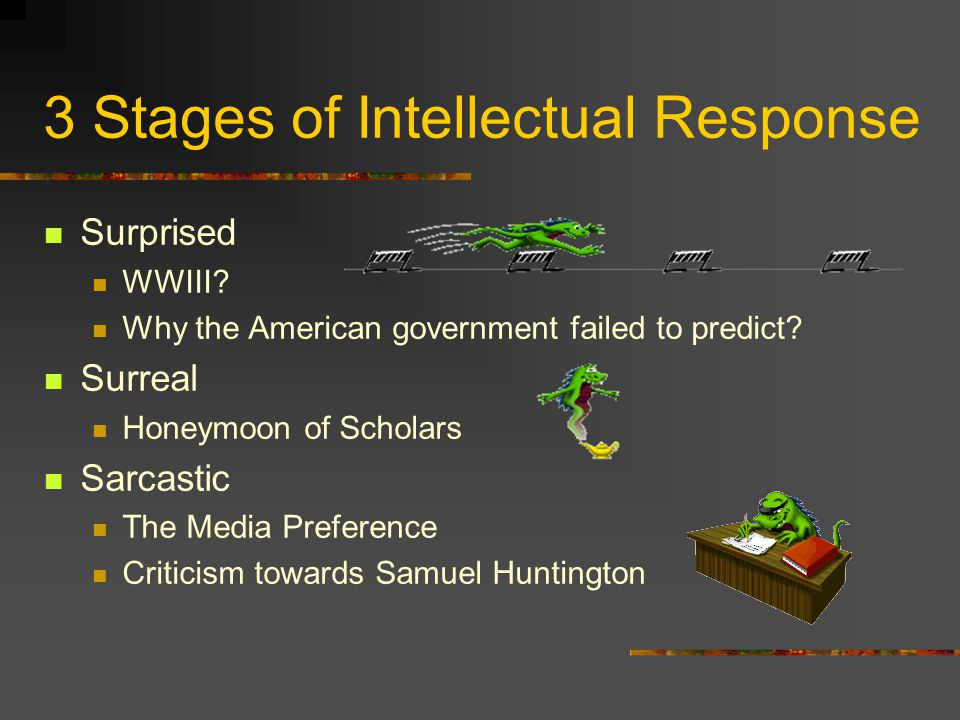 3 Stages of Intellectual Response Surprised WWIII.