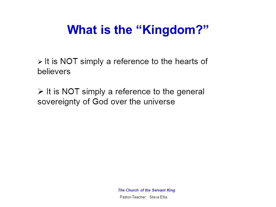 The Church of the Servant King Pastor-Teacher: Steve Ellis The Parable of the Dragnet (Matthew 13:47-50)