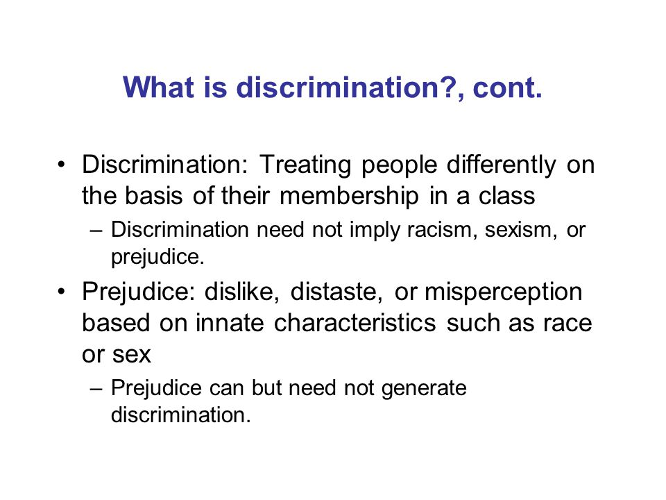 What is labor market discrimination.