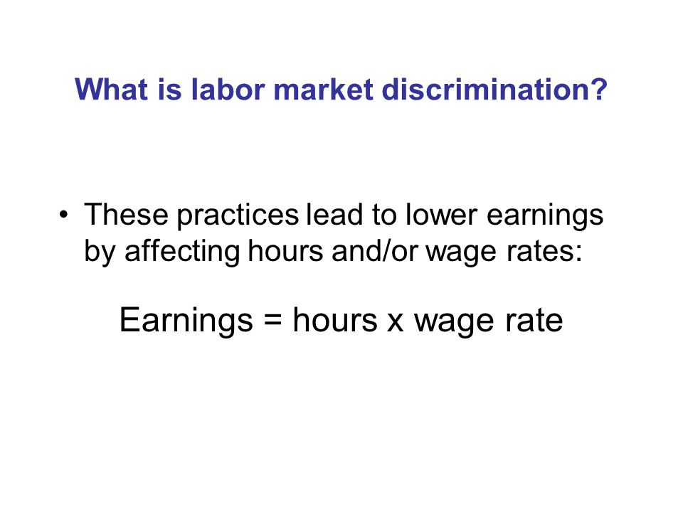 Why would the labor market preferences of men and women differ.