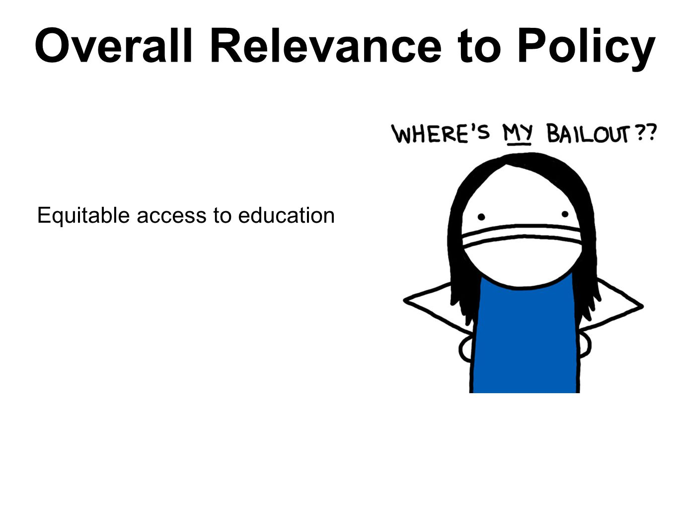 Overall Relevance to Policy Equitable access to education