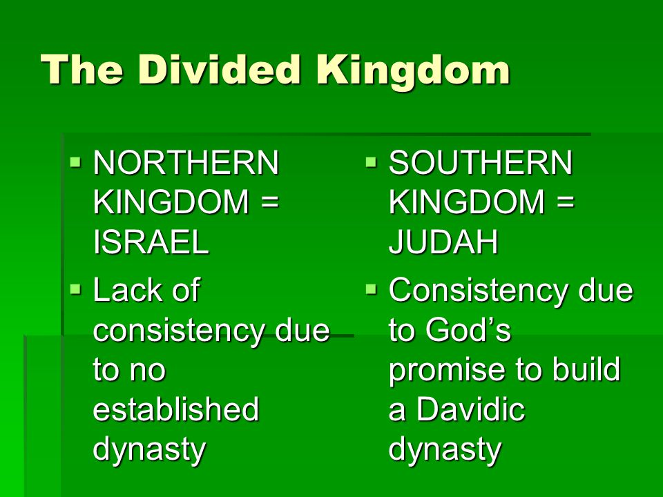 The Southern Kingdom of Judah King Hezekiah – did what was right in the sight of God…I Kings 18-20 King Hezekiah – did what was right in the sight of God…I Kings 18-20 Religious renewal Religious renewal Removal of the high places of Baal worship Removal of the high places of Baal worship Allied with Babylon and Egypt against Assyria – led to siege of Jerusalem, but God delivered the city Allied with Babylon and Egypt against Assyria – led to siege of Jerusalem, but God delivered the city
