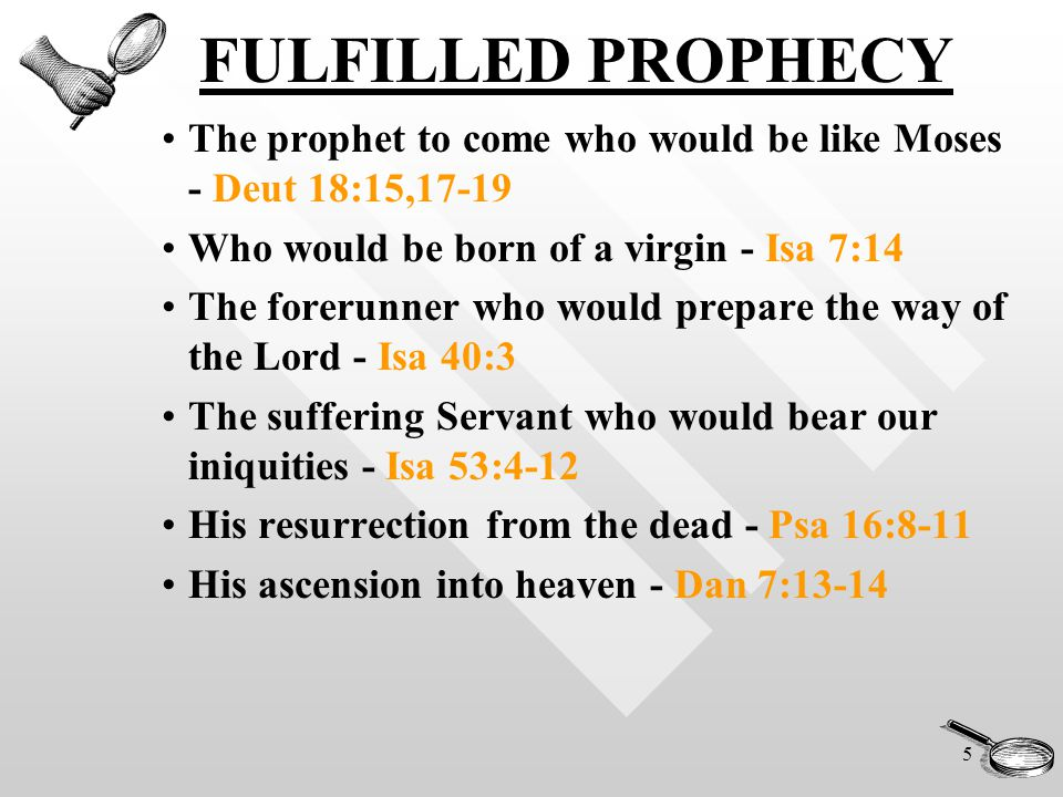 6 FULFILLED PROPHECY SIGNIFICANCE...H.W.