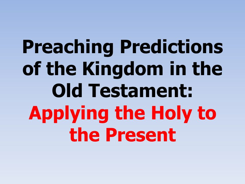Guidelines for Preaching Prophetic Literature Select a preaching-text that is a unit.