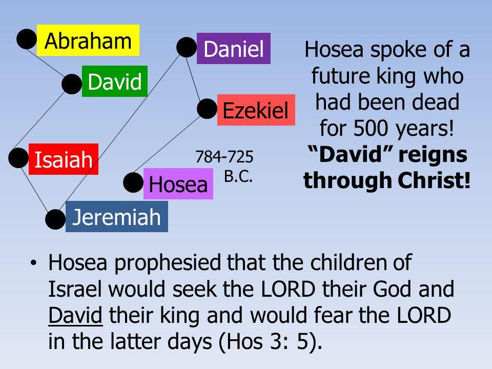 Abraham David Isaiah Jeremiah Ezekiel Daniel Hosea 784-725 B.C.