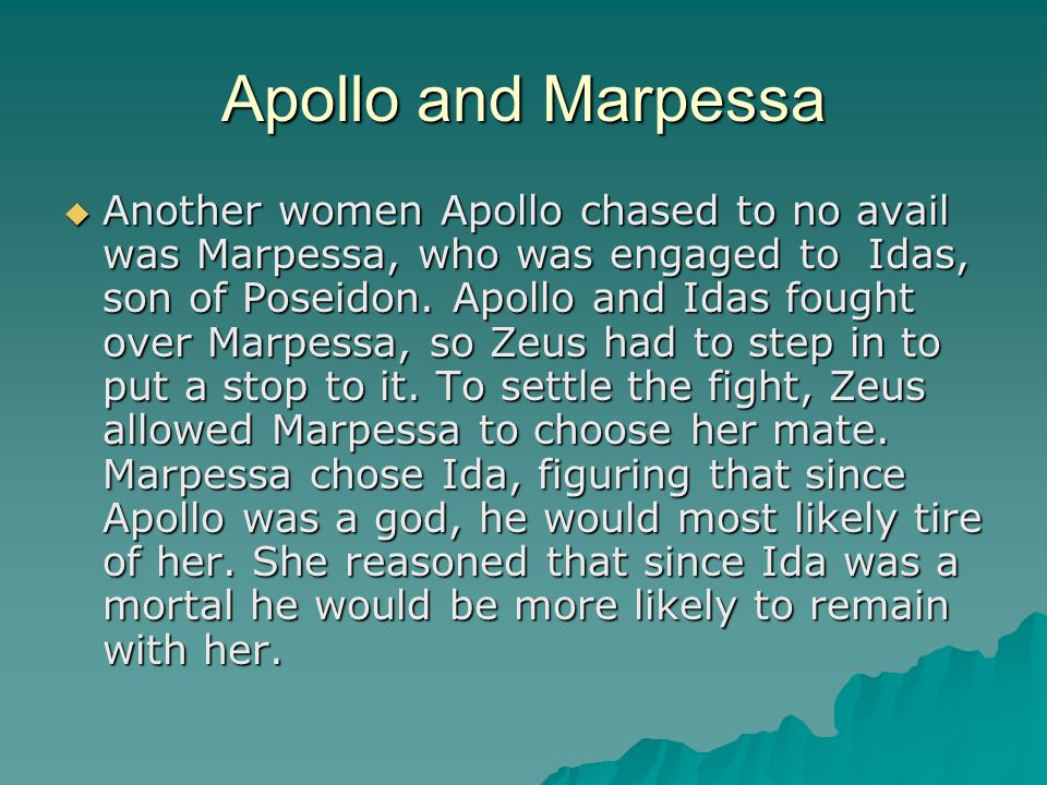 Apollo and Marpessa