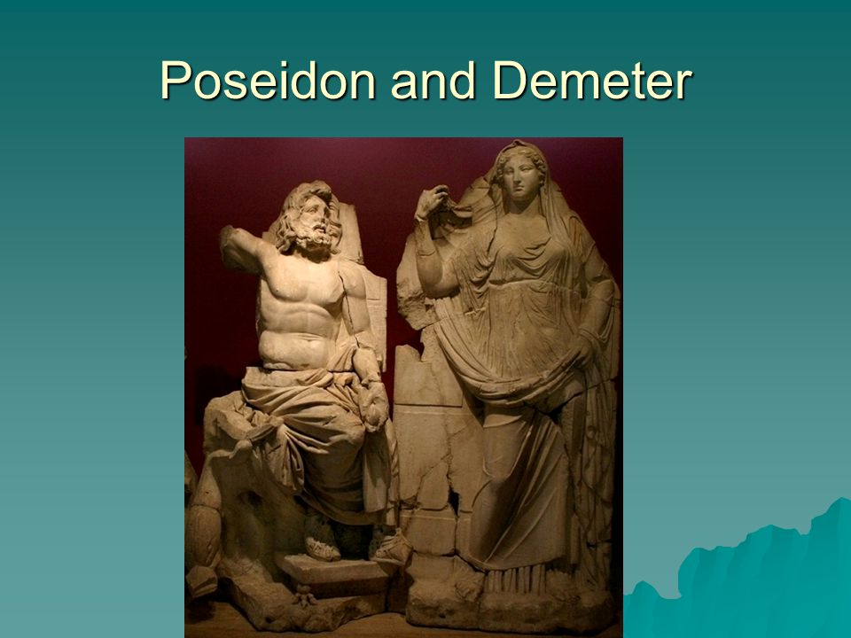 Poseidon, Lord of the Deep  The competition in Athens –He offers the Athenians salt water?.