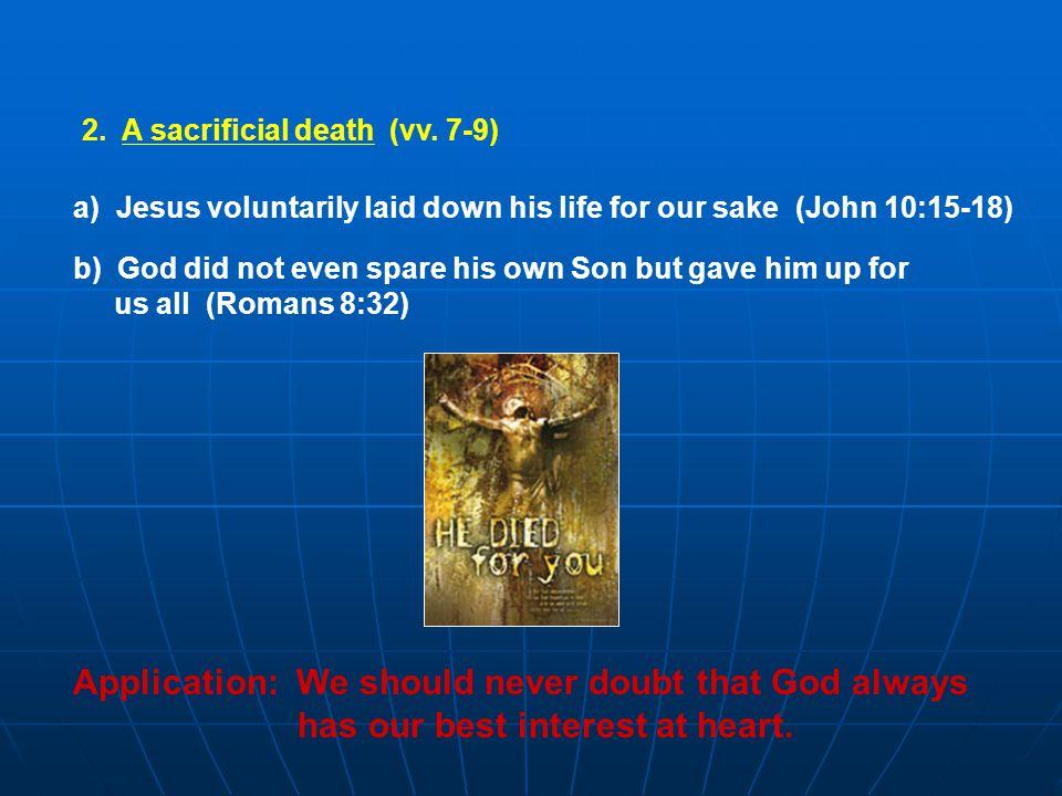 2. A sacrificial death (vv.