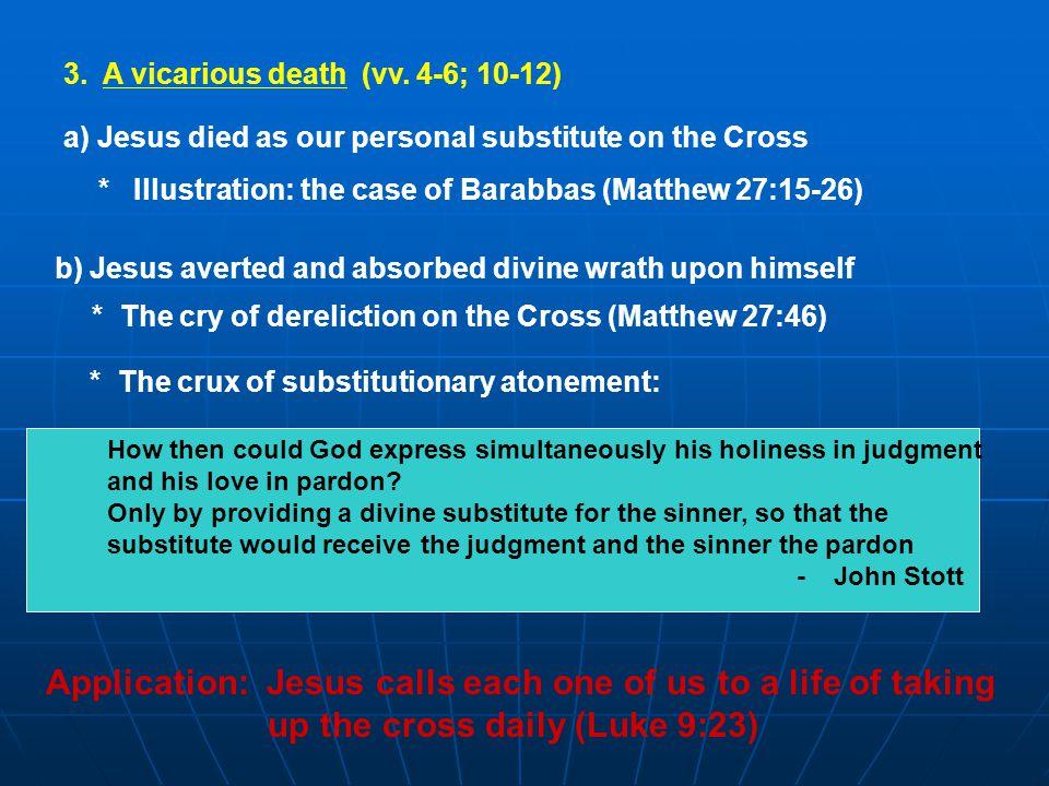 3. A vicarious death (vv.
