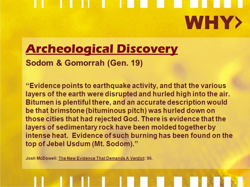 Archeological Discovery Sodom & Gomorrah (Gen.