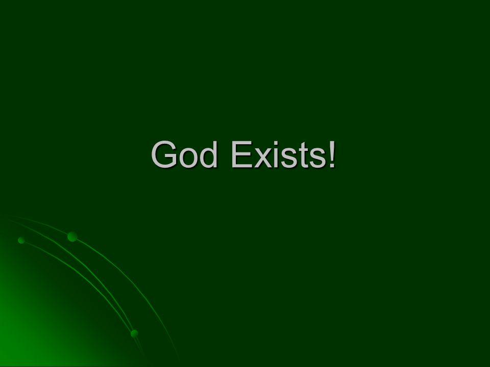 God Exists!
