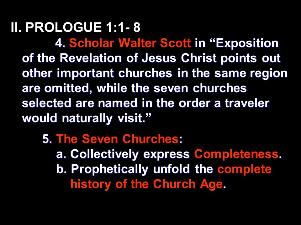 II. PROLOGUE 1:1- 8 4.