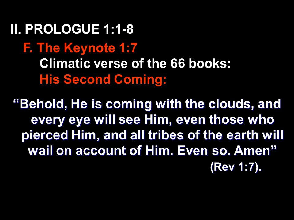 II. PROLOGUE 1:1-8 F.