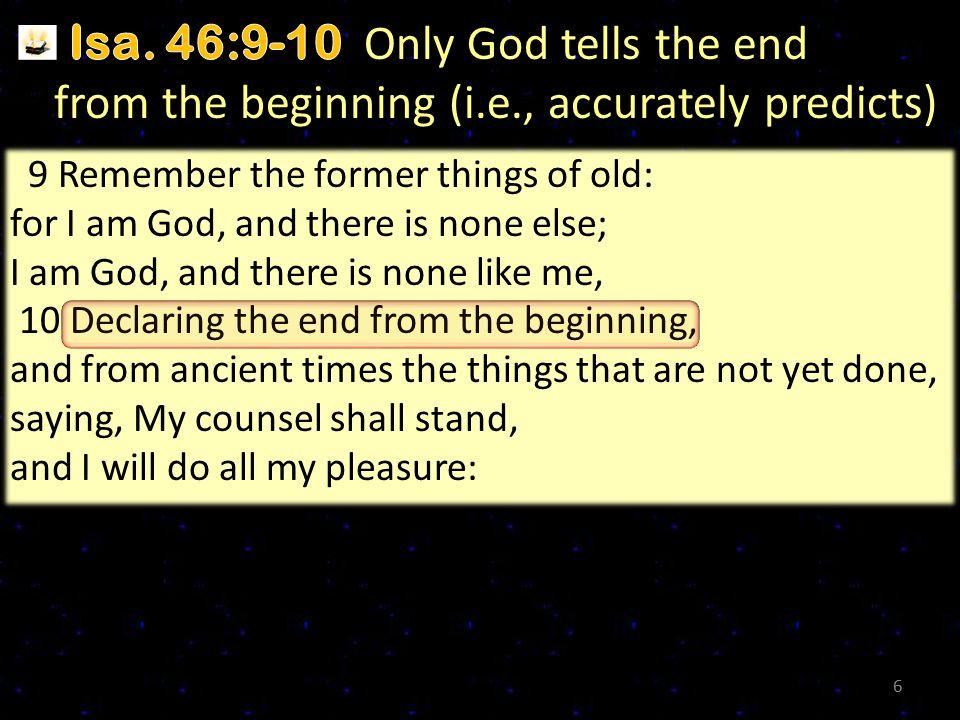 I.Criteria of True Prophecy B.