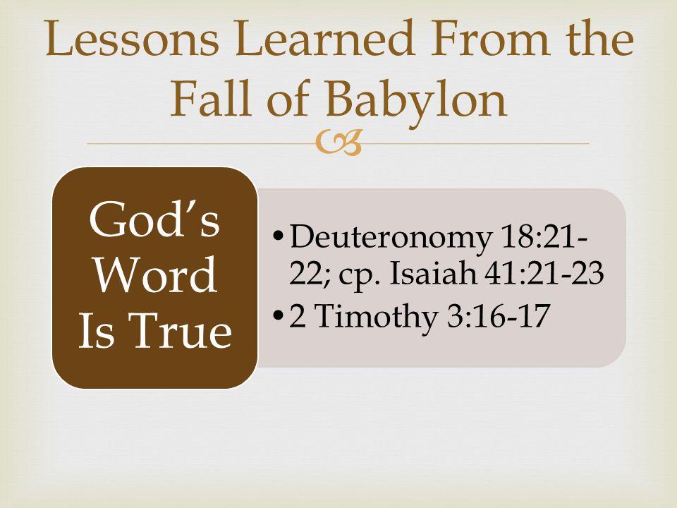 Deuteronomy 18:21- 22; cp.