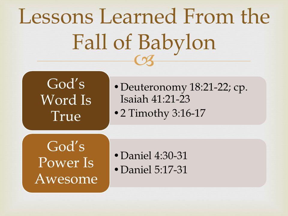  Deuteronomy 18:21-22; cp.