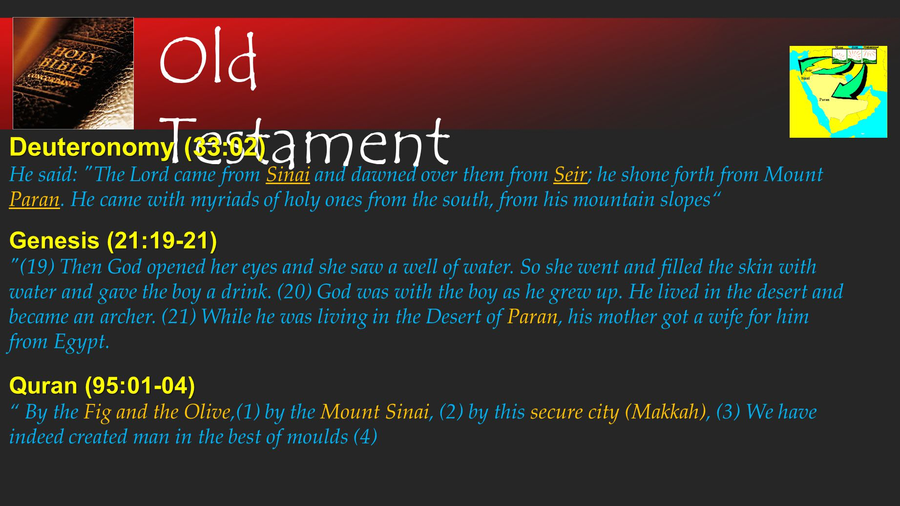 New Testament John (16:7-8) But I tell you the truth: It is for your good that I am going away.