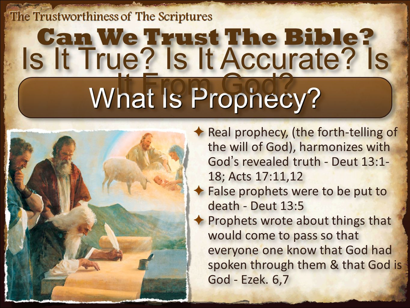 The Trustworthiness of The Scriptures Prophecies Regarding Nations ✴ Fall of Tyre ✴ The walls would be broken down (Ezek.