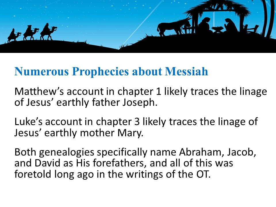 Matthew's account in chapter 1 likely traces the linage of Jesus' earthly father Joseph.