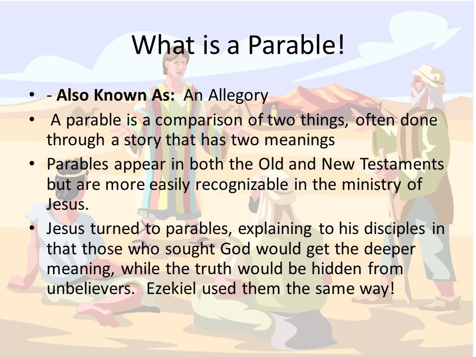 What is a Parable.
