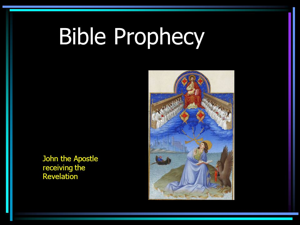 Bible Prophecy John the Apostle receiving the Revelation